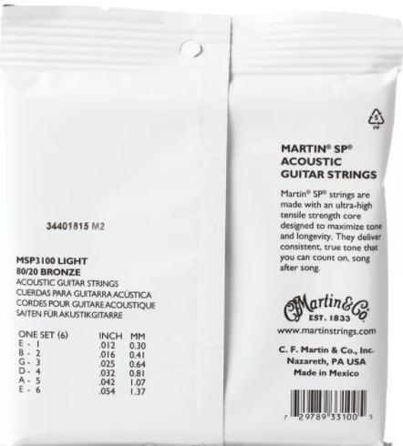 martin msp3200 sp medium gauge 80 20 bronze acoustic guitar strings. Black Bedroom Furniture Sets. Home Design Ideas