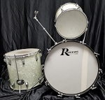 (USED) 1968 Rogers White Marine Pearl 3-Piece Drum Kit (Shells Only)