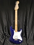 (USED) 2002 Fender MIM FSR Stratocaster Electric Guitar, Imperial Blue w/Case