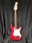 (USED) 1994 Fender MIM Squier Series Electric Guitar, Fiesta Red