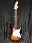 (USED) Fender MIM Standard Series Stratocaster Electric Guitar, Three-tone Sunburst