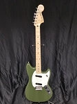 (USED) Fender MIM Offset Series Mustang  Electric Guitar, Olive
