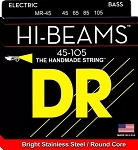 DR MR-45 Hi-Beams Medium Gauge Bright Stainless Steel 4-String Electric Bass Strings