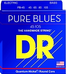 DR PB-45 Pure Blues Quantum Nickel Medium Gauge 4-String Electric Bass Strings