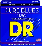 DR PHR-11 Pure Blues Pure Nickel Heavy Gauge Electric Guitar Strings