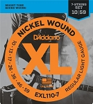 D'Addario EXL110-7 Nickel Wound Regular Light Gauge 7-String Electric Guitar Strings .10-.59