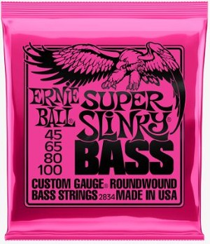 Ernie Ball 2834 Super Slinky Custom Gauge Roundwound Bass Strings