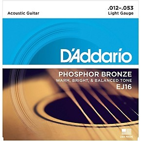 D'Addario EJ16 Light Gauge Phosphor Bronze Acoustic Guitar Strings
