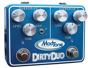ModTone MT-DUO Dirty Duo Dual Channel Overdrive Pedal