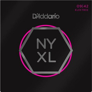 D'Addario NYXL0942 Nickel Wound Super Light Electric Guitar Strings .09-.42