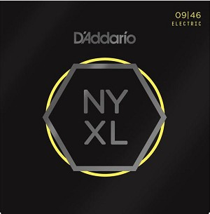 D'Addario NYXL0946 Nickel Wound Super Light Top/Regular Bottom Electric Guitar Strings .09-.46