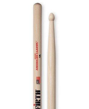 Vic Firth VF1AW American Classic Hickory 1A Drumsticks Nylon Tip