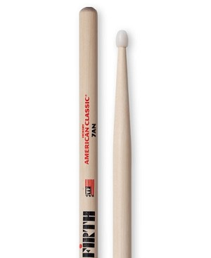 Vic Firth VF7AN American Classic Hickory 7AN Drumsticks Nylon Tip