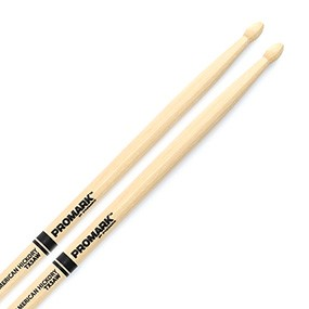 Promark TX5AW Hickory 5A Drumsticks Wood Tip